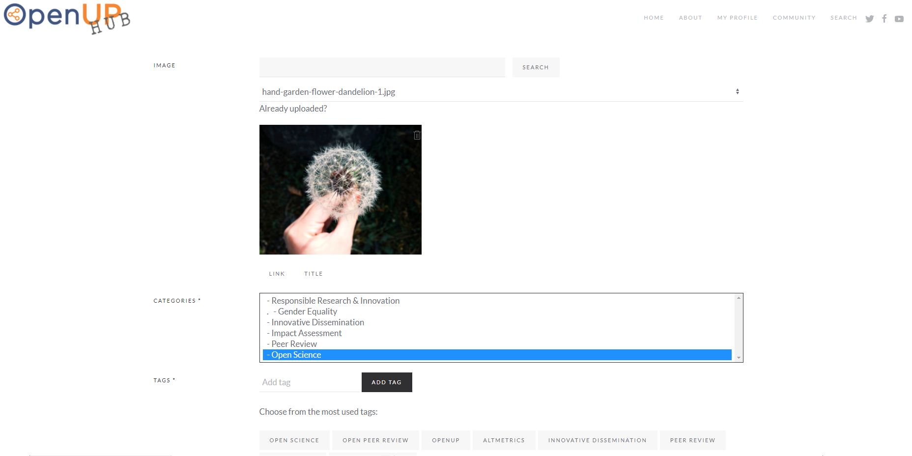 Choose or assign the relevant Tags to label your articles to describe  specific details of your posts and insert a Teaser Image (you can upload  one of your ...