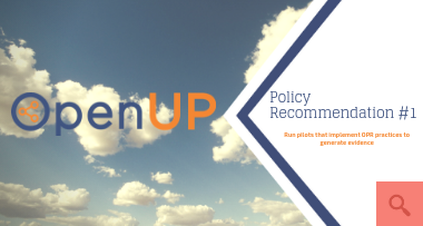 OpenUP policy recommendations No 1 (Peer Review)