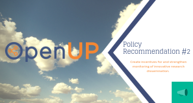 OpenUP policy recommendations No 2 (Innovative Dissemination)