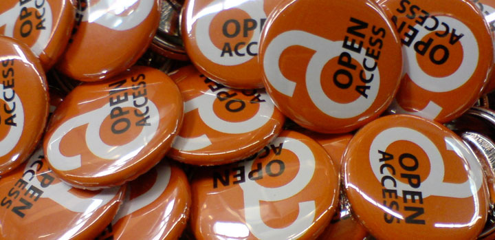 Open access badges, ©h_pampel via Flickr, CC BY-SA